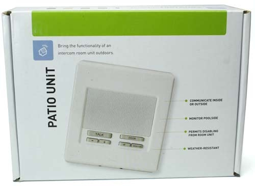 Selectable Room Intercom Patio Unit, White