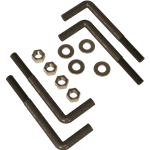 L-Bolts for Wet Concrete Pad Mounting