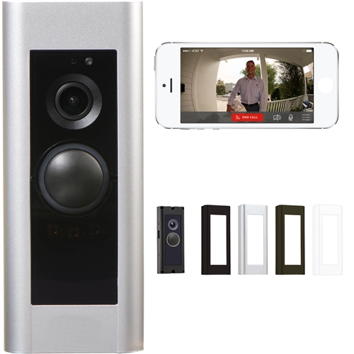 WiFi Pro Video Doorbell With App and Color Faceplates- Wired Power