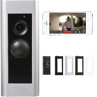 Wi-Fi Pro Video Doorbell With App and Color Faceplates- Wired Power