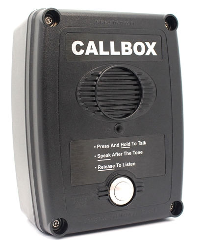 UHF Compact Wireless Call Box with Relay - Black