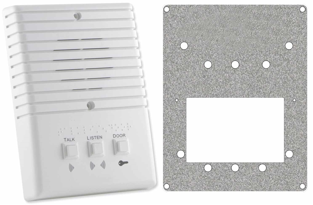 3-wire Apartment Surface Mount Station with Braille
