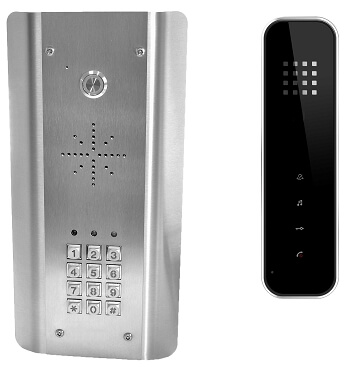 Wired Stainless Steel Handsfree Intercom with Keypad