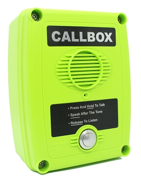 DMR Digital Callbox UHF, 450-470 MHZ, Hi-Viz Green Housing