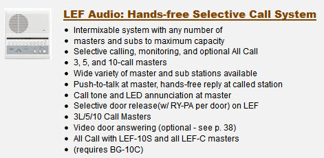 LEF Audio: Hands-free Selective Call System