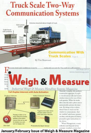 Jan/Feb 2013 Weigh & Measure Article
