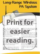 wireless pa system brochure