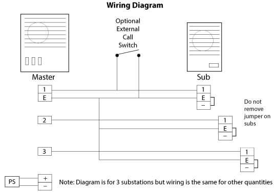 intercom wiring diagram